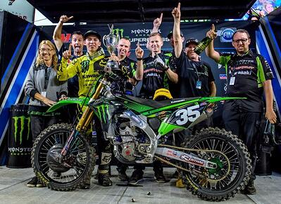 Austin Forkner Earns his First Career Win at Tampa Supercross