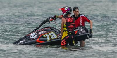 Professional Jet Ski Pilot Luc Hermsen and his 1100cc Custom Race Ski