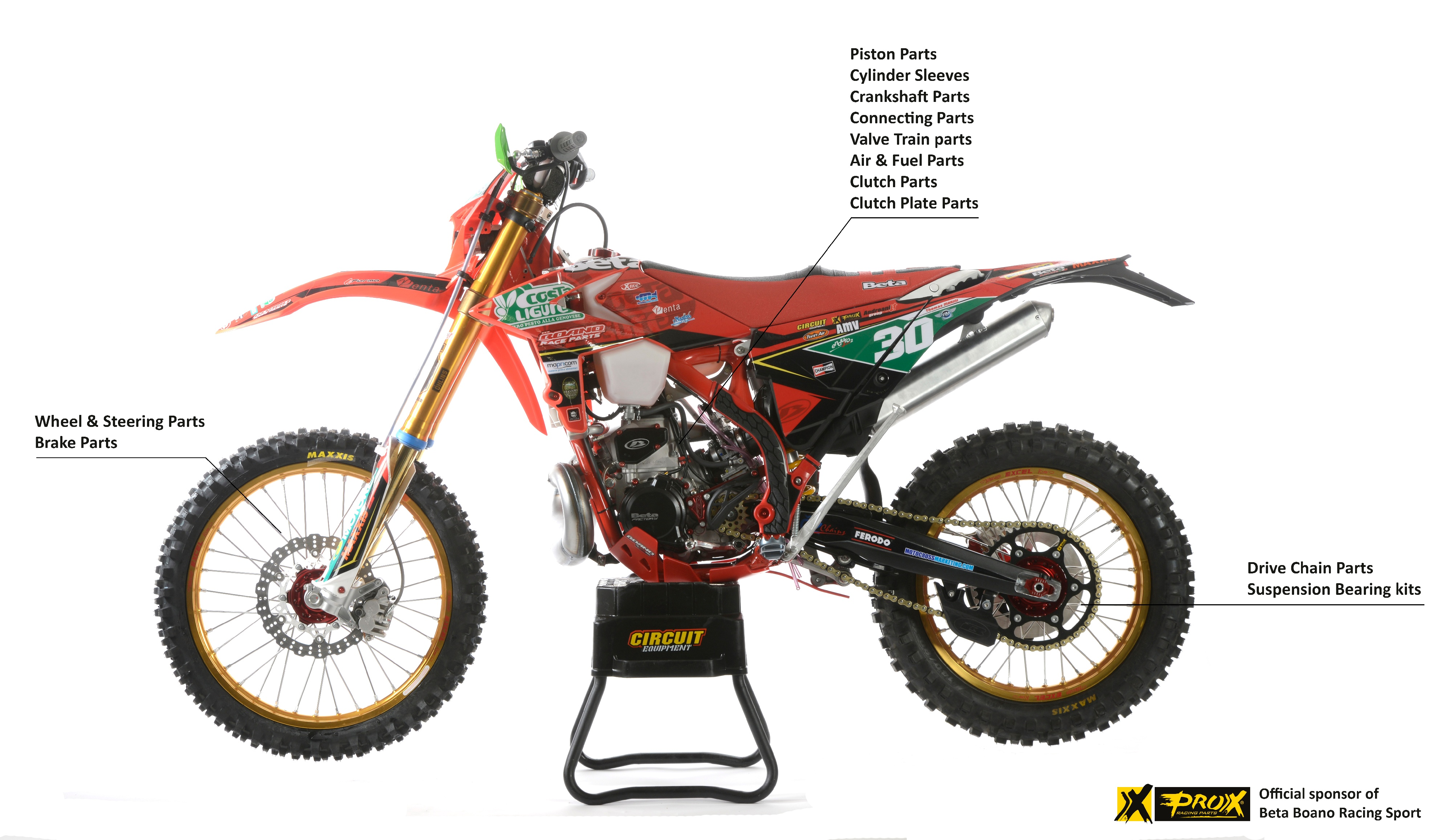 ProX Racing Parts' Complete Line of Performance Replacement Parts for Beta Motorcycles