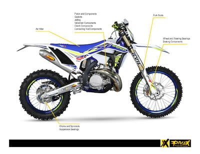 Complete Lineup of Performance Replacement Parts for Sherco Motorcycles from ProX