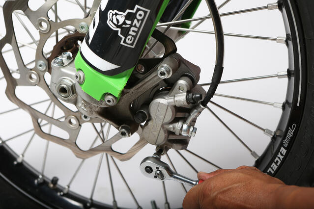 replacing dirt bike brake pads