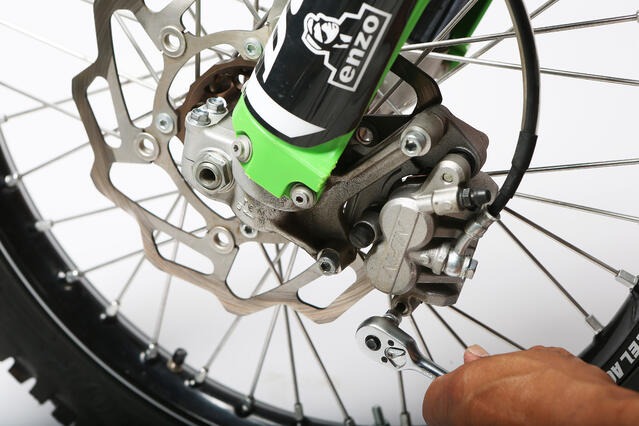 removing dirt bike brake caliper
