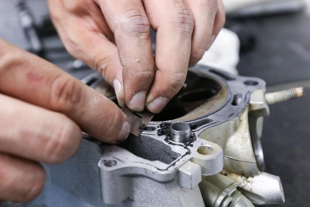 Removing gasket material
