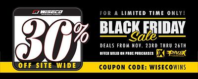 Wiseco's Black Friday Sale Includes 30% Off ProX Racing Parts!